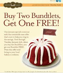 photograph relating to Nothing Bundt Cakes Coupons Printable named Very little Bundt Cake: Order 2 Bundtlets Take A single No cost