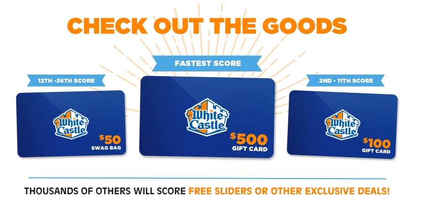 Free White Castle sliders (no purchase required)