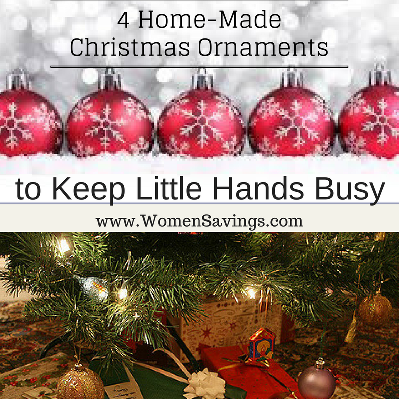 4 Home-Made Christmas Ornaments to Keep Little Hands Busy