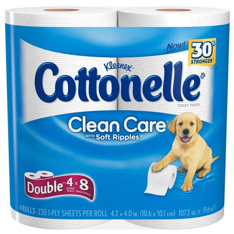 Cottonelle Clean Care Bath Tissue 31¢ Per Double Roll at CVS! Ends Saturday