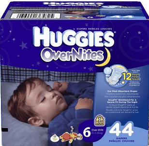 FREE Huggies OverNites Diaper Sample