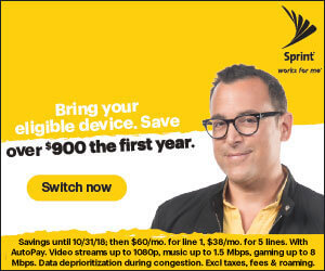 FREE Unlimited Data, Talk and Text for 1 Year when you Switch to Sprint