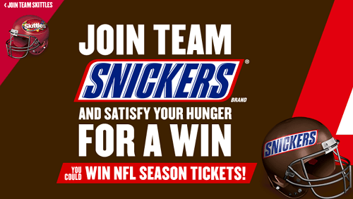 Snickers and Skittles Prizes Instant Win Game (Over 25,000 Prizes)