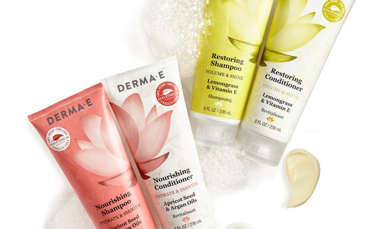 FREE DERMA-E's Nourishing Shampoo & Conditioner Sample!