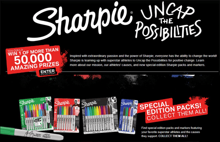 Sharpie 'Uncap The Possibilities' Instant Win Game (Over 50,000 Winners)
