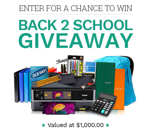 Back to School $1000 Giveaway Sweepstakes