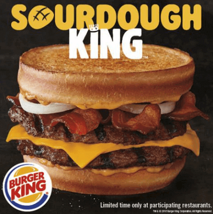 Burger King: SourDough King Sandwich for ONLY $0.01!