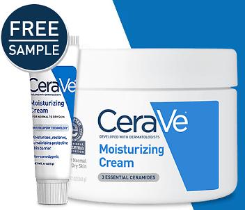 Free CeraVe Moisturizing Skincare Sample