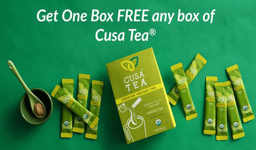 FREE Box of Cusa Tea Coupon (New Offer)