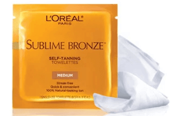 FREE L'Oréal Sublime Bronze Self-Tanning Towelettes Sample