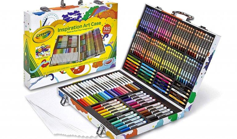Crayola 140 Count Art Set, Rainbow Inspiration Art Case Instant Win Game