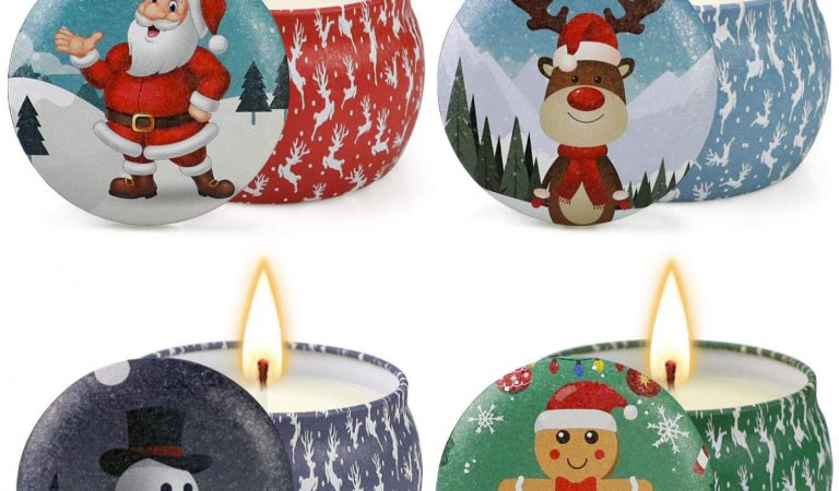 Christmas Scented Candles Gifts Set