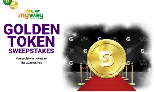 Subway Golden Ticket Instant Win Game (2,215 Winners)