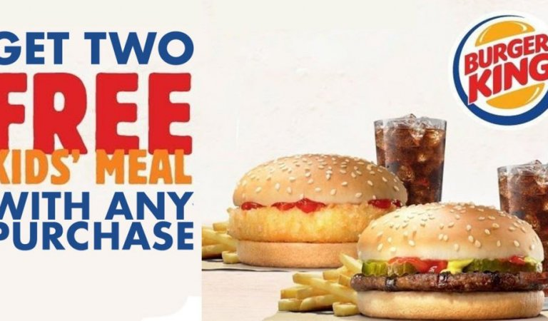 FREE Kids Burger King Meals with Purchase (App)