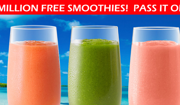 🥤FREE Tropical Smoothie for the FIRST 1,000,000