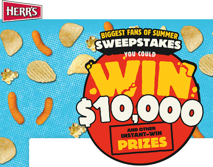 "Herr's ""Biggest Fans of Summer"" Instant Win Game (10,030 Winners)"