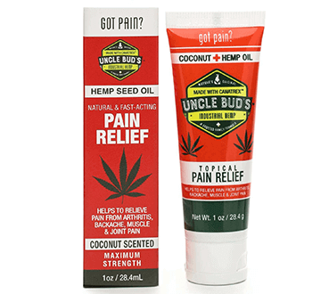 FREE Uncle Bud's Hemp Pain Relief Sample